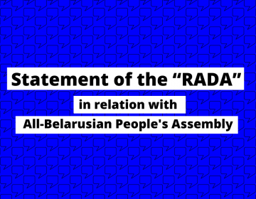 "Statement of the ""RADA"" in relation with All-Belarusian People's Assembly"